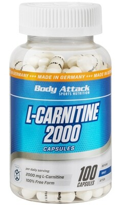 BODY ATTACK L-CARNITINE KAPSELN 2000 100 CAPS
