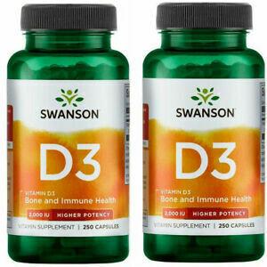 Swanson PremiumVitamin D3 250 Caps