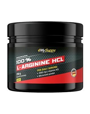 MYSUPPS 100% L-ARGININE HCL (250G DOSE)