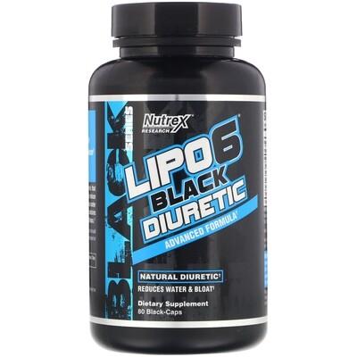 NUTREX LIPO-6 BLACK DIURETIC 80 Caps