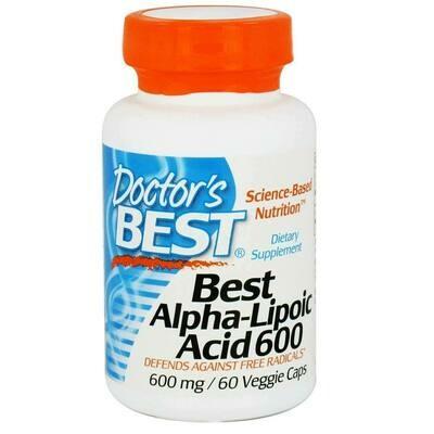 Doctor's Best, Alpha-Lipoic Acid (Alpha-Liponsäure) 600MG
