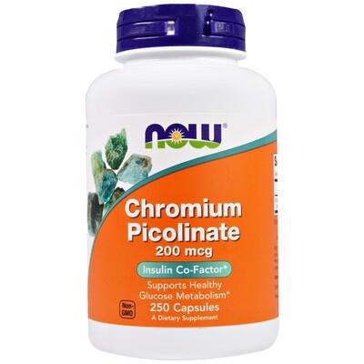 Now Foods, Chromium Picolinate, 200mcg 250 Kapseln