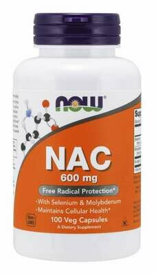 NOW NAC N-ACETYL-L-CYSTEINE 600MGg  100 CAPS