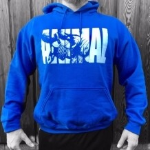 Animal Fury Hooded Sweater - Blue and Army Green