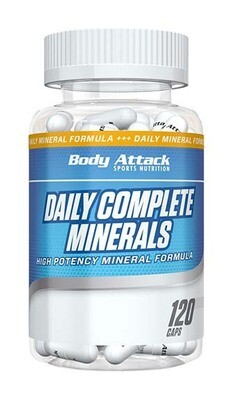 BODY ATTACK DAILY COMPLETE MINERALS (120 CAPS)
