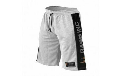 GASP NO1 Mesh Shorts White Black