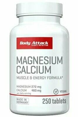 Body Attack Magnesium Calcium 250 Caps