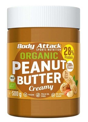 BODY ATTACK ORGANIC PEANUT BUTTER 500G DOSE