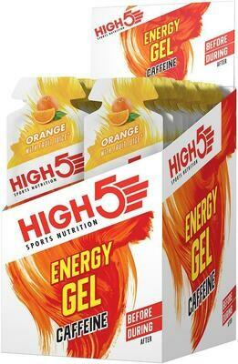Sports Nutrition High 5 Energy Gel Caffeine Orange
