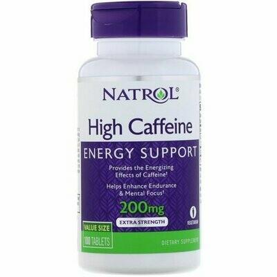 NATROL High Caffeine 200mg tabs