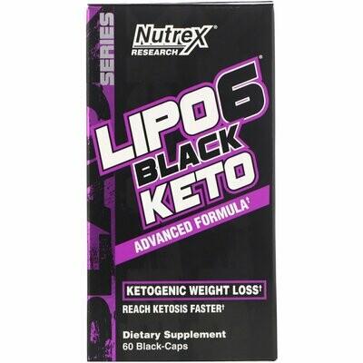 Nutrex Lipo6 Black Keto 60 Caps