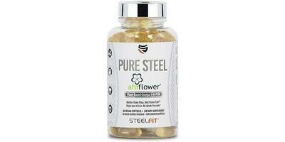 Pure Steel Ahiflower Omegas - 90 Vegan Softgels
