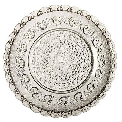 Assiette Fleur de Lys- transparente