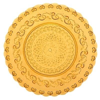Assiette Fleur de Lys-ambrée