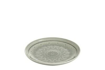 Assiette céramique gris médium