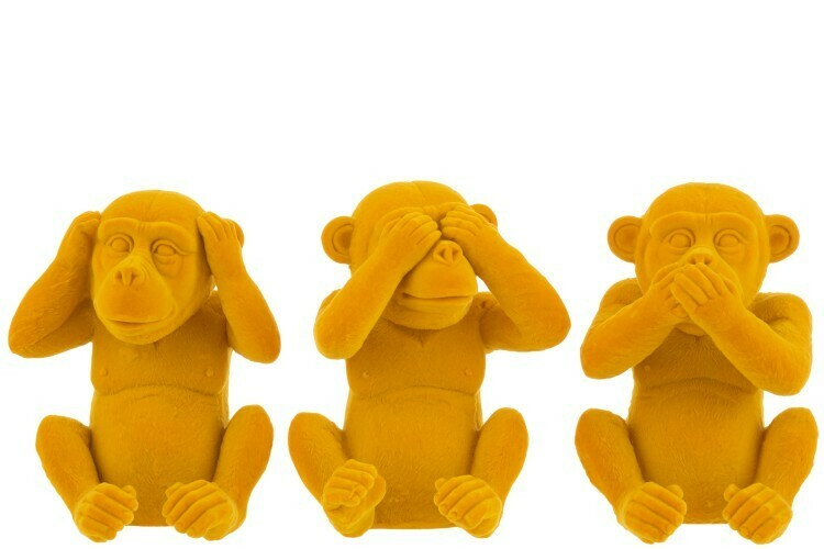 Lot de 3 singes de la Sagesse