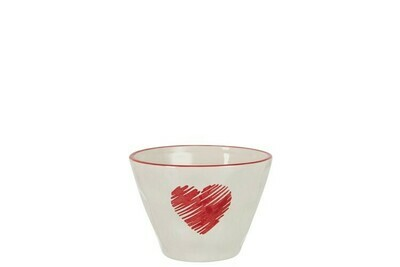Bol coeur en céramique
