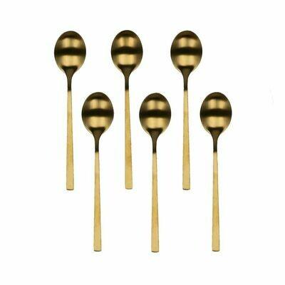 Coffret 6 cuillères à café SERENITY, gold