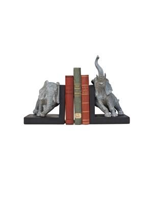Serre livres Eléphant gris