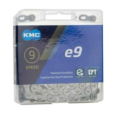 Ketting KMC e9 EPT E-Bike 9V 11/128 Zilver 136 Sch.