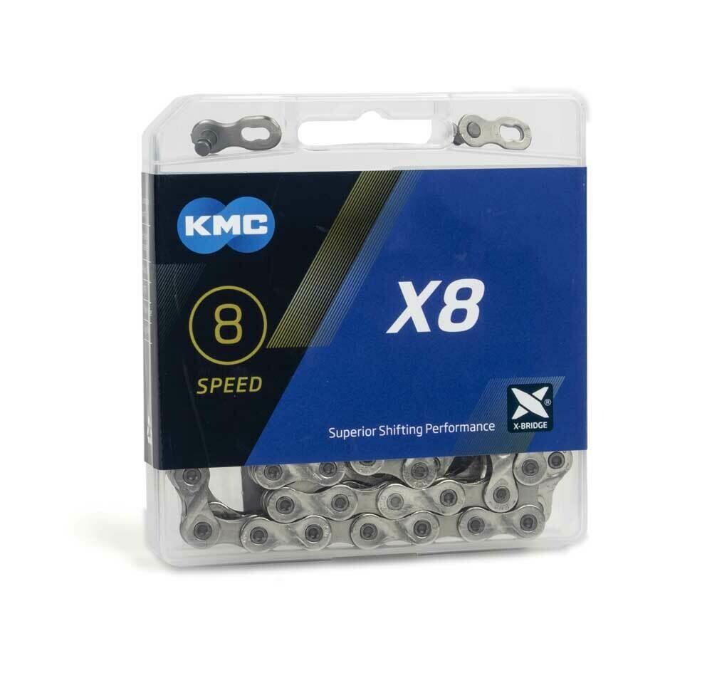 Ketting KMC X8 7/8V 3/32 Zilver 114 Sch.