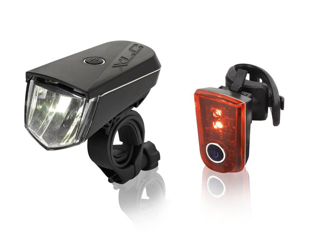 Lampset XLC Sirius CL-S18 20 Lux Led Batterij Zwart