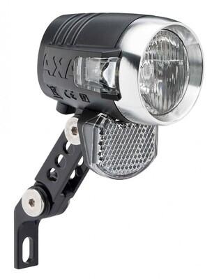 Koplamp Axa Blueline 50T Steady Led met standlicht Aan/Uit/Aut Naafdynamo Zwart