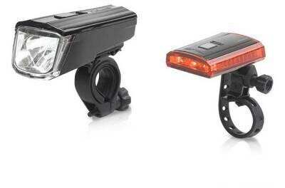 Lampset XLC Comp Titania CL-S16 USB Led Zwart