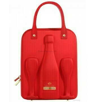 Piper-Heidsieck Brut Travel Case + 2 glazen - Incl ZUCO T-shirt twv 25 euro - Pipers Chips