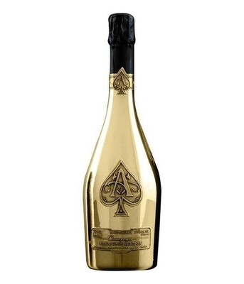 *- Champagne -* Armand de Brignac verpakt in koffer - . Incl in dit pakket onze ZUCO T-shirt twv 25 euro- Pipers Chips
