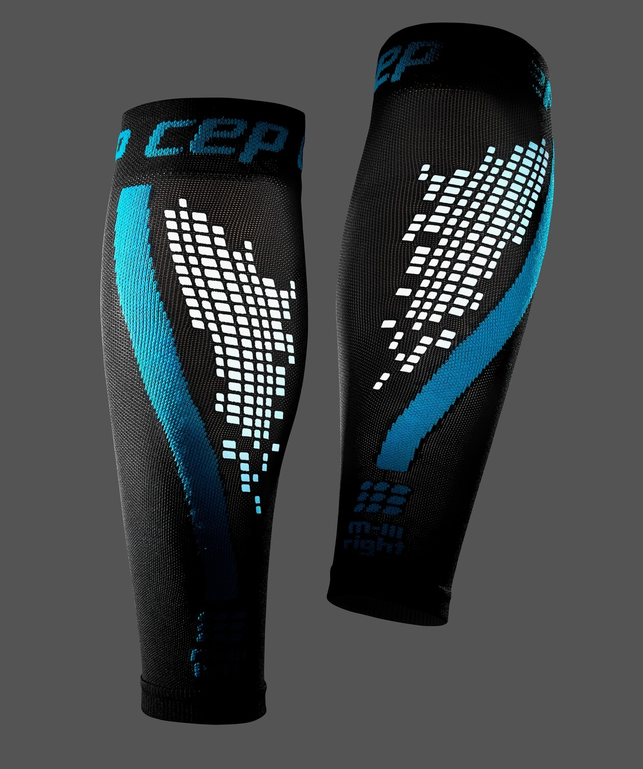 CEP Nighttech Calf sleeves Blue WS4L30