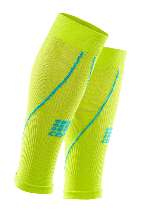 CEP Calf Sleeves Lime/hawaii blue WS5580
