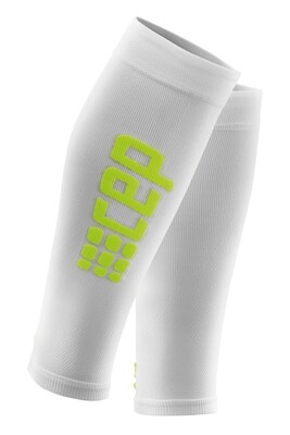 CEP Ultralight Calf Sleeves White/green WS45WD