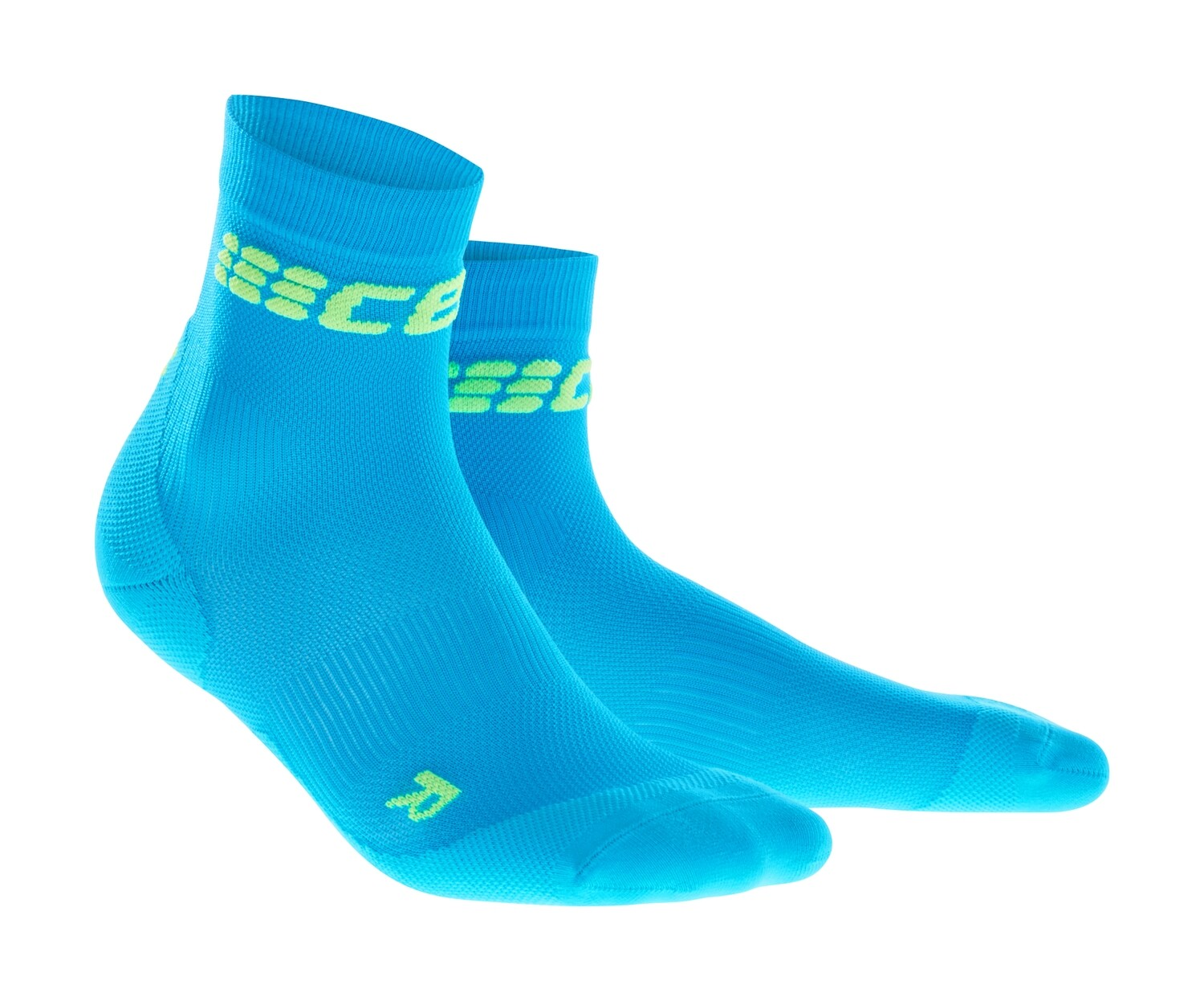 CEP Ultralight Short Socks electric blue/green WP5BNC