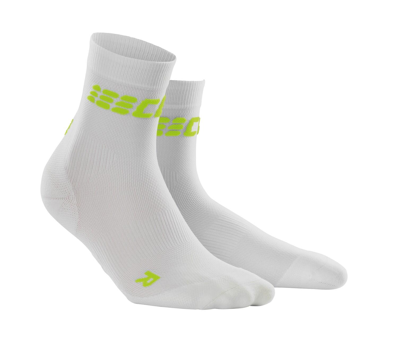 CEP Ultralight Short Socks white/green WP5BWC
