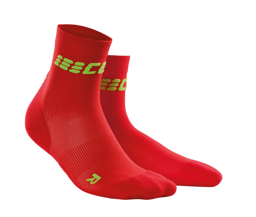 CEP Ultralight Short Socks red/green WP4BMC
