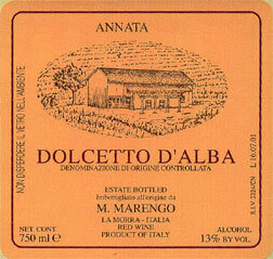 Dolcetto D'Alba, Marco Marengo, 2018 Italy, Piemonte