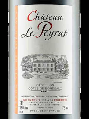 Ch�teau Le Peyrat, C�tes De Castillon, 2017 France, Bordeaux