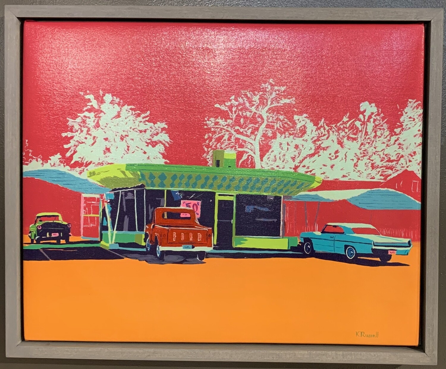 """""""Mid Mod Diner and Cars"""" by Kory Russell"""