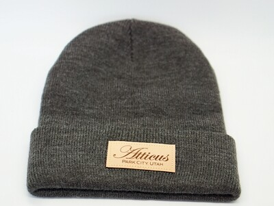 Leather Patch Beanie