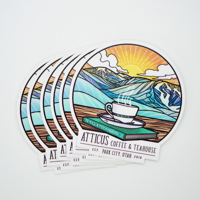 'Drinking in the View' Sticker