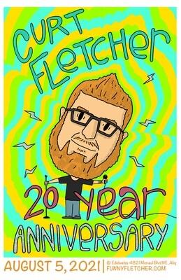 Curt Fletcher 20 Year Anniversary Poster