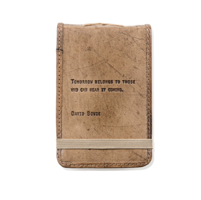 Mini David Bowie Leather Journal