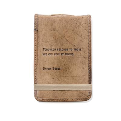 Mini David Bowie Leather Journal