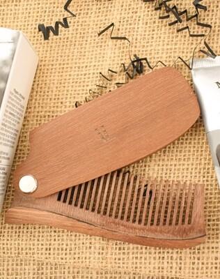 Volume Life Salon Studio Wooden Beard Comb