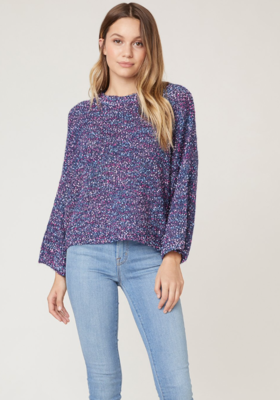 Navy Speckle Sweater