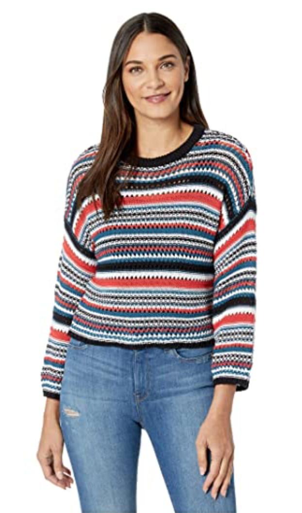 Blue Stripe Knit Sweater