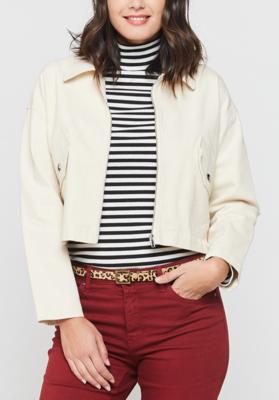 Ivory Denim Jacket