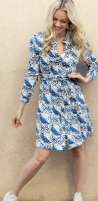 Dove Print Dress