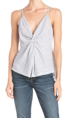 Stripe Twist Front Tank